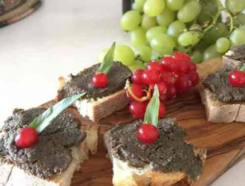 mushroom and chestnut pate on toast