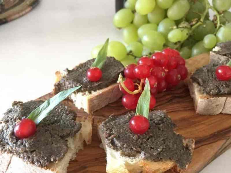 mushroom and chestnut pate on toast