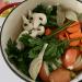vegetables in large pot