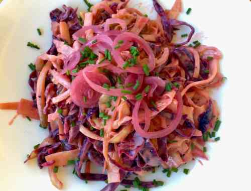 bbq coleslaw from top
