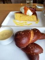 Soft Pretzel & Corn Bread