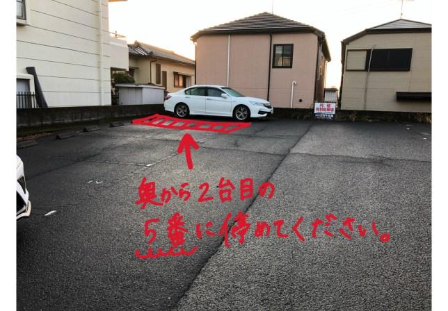 第3駐車場案内5番にお停めください