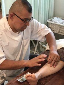 足陽明胃経への刺鍼