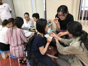 鍼灸フェスタにおける鍼道五経会の活動