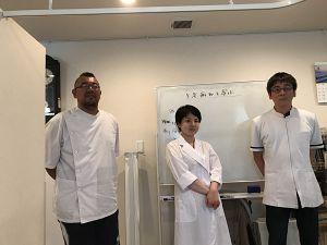 鍼道五経会の生老病死を学ぶで発表するの写真