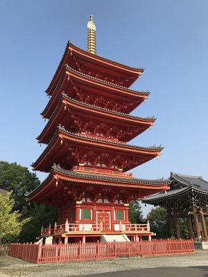 願照寺の五重塔