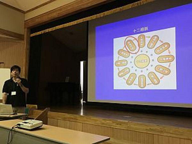 先進融合医学研究会の代表、萩原先生の講義