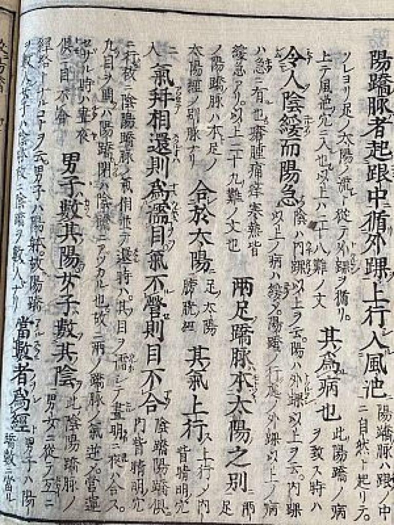十四経発揮和語鈔の奇経八脈篇、陽蹻脈の説明