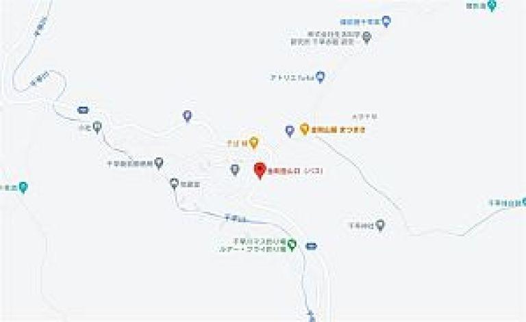 金剛山登山口バス停周辺のマップ