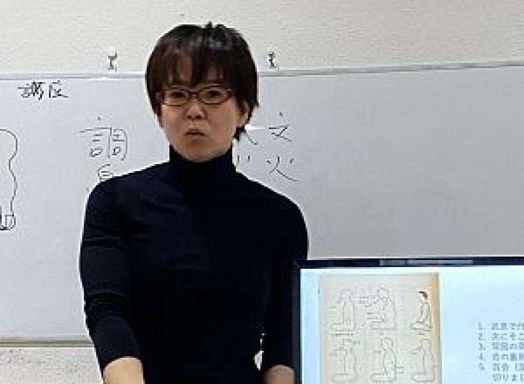 道教の武息について講義される若林理砂先生