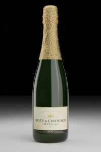 Champagne bottle second render