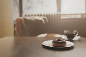 Donut and a coffee good light setup