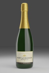 Champagne bottle first render