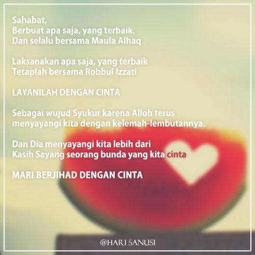 Layanilah Dengan Cinta
