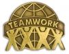 213 7561 2 - Teamwork Pin (Brown) 1
