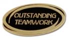 Outstanding Teamwork Pin