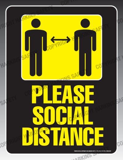 647 WM Social - Please Social Distance  (Poster)  PT647