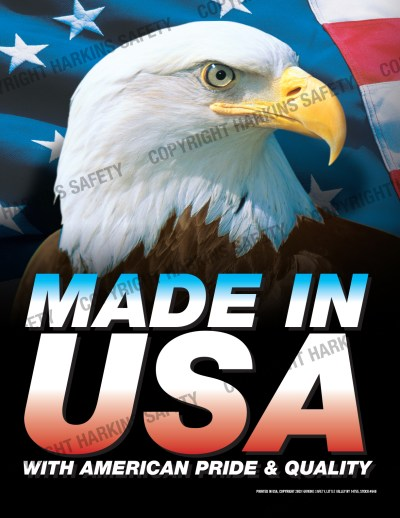 648 WM USA - Made in USA With American Pride & Quality (Poster) PT648