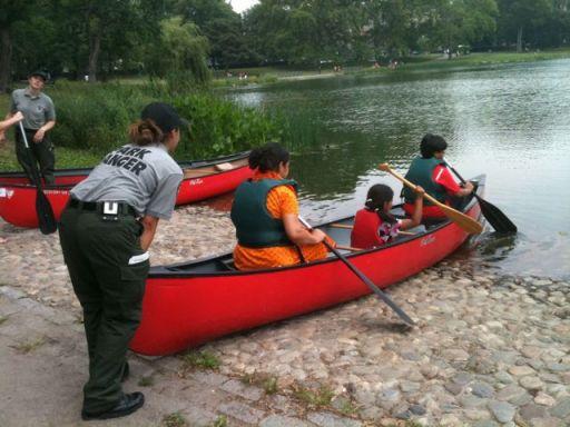 Canoeing in Harlem Meer