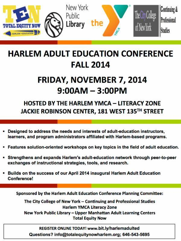 Harlem Adult Education Conference