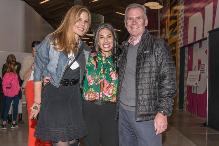 (From left) Stephenson, Stacy London and Chris Conlon pose at the event.