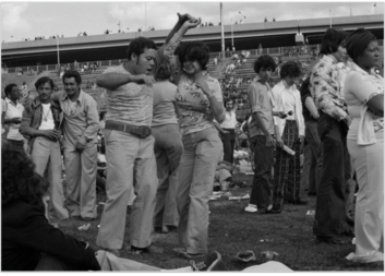 Dancers on Randall's Island in 1974.