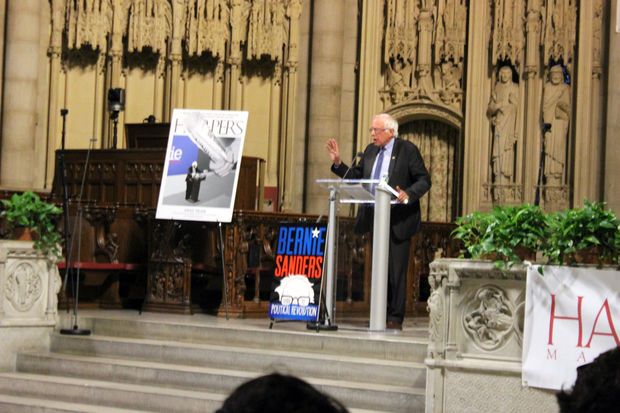 The Vermont Senator launched a new book at The Riverside Church in Manhattan on Monday Augut 28, 2017.