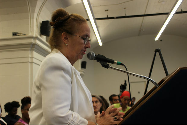 Residents and elected officials from East Harlem told the City Planning Commission that they reject the city's rezoning plan during a public hearing on August 23, 2017.