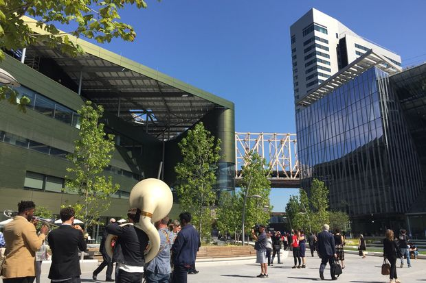 Cornell Tech opened its new campus on Roosevelt Island on Wednesday.