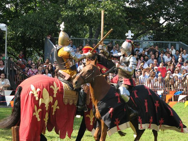 Performances include jousting at the Medieval Festival held in Fort Tryon Park.