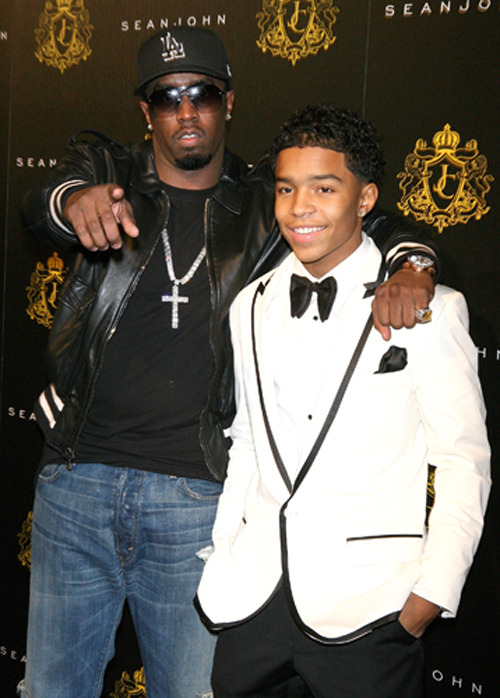 Sean 'Diddy' Combs and Justin Dior Combss Justin Dior Combs celebrates his 16th birthday at the M2 Ultra Lounge New York City, USA - 23.01.10 Mandatory Credit: PNP/WENN.com