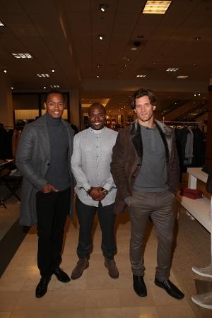 Brett Johnson with models in Brett Johnson Collection clothing