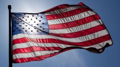 american flag in harlem