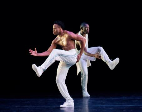 Jeroboam Bozeman and Chalvar Monteiro in Rennie Harris' 'Exodus.' Photo by Paul Kolnik