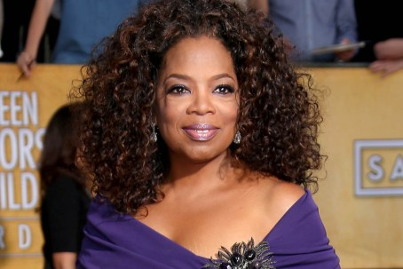 LOS ANGELES, CA - JANUARY 18: Oprah Winfrey arrives at the 20th Annual Screen Actors Guild Awards at the Shrine Auditorium on January 18, 2014 in Los Angeles, California. (Photo by Dan MacMedan/WireImage)