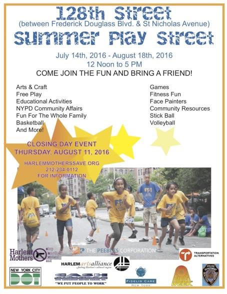 Summer Play Street flyer