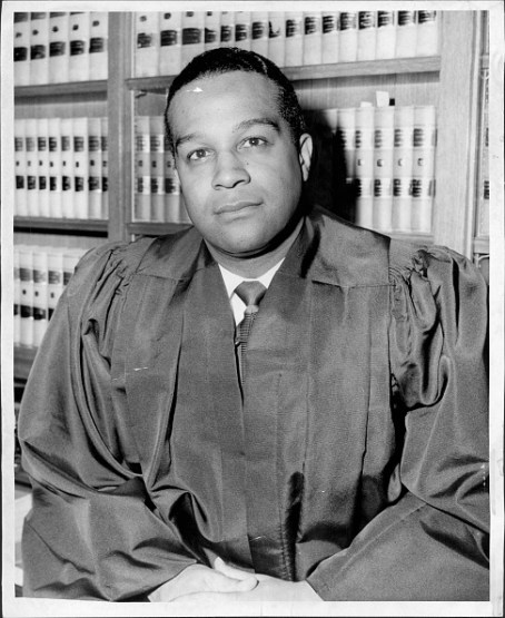 New York City -- Donald S. Stralem, Chairman of the New York City USO Committee, announces that Judge Samuel Riley Pierce, Jr. of the Court of General Sessions has accepted his invitation to serve as a member of this Committee. January 05, 1960. (Photo by Barney Stein/New York Post Archives / (c) NYP Holdings, Inc. via Getty Images)