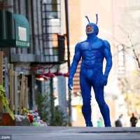 The  Big Blue Superhero Tick Resumes Shooting On The Streets Of Harlem