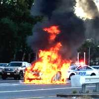 Crazy Car Fire Shuts Down FDR Drive In East Harlem