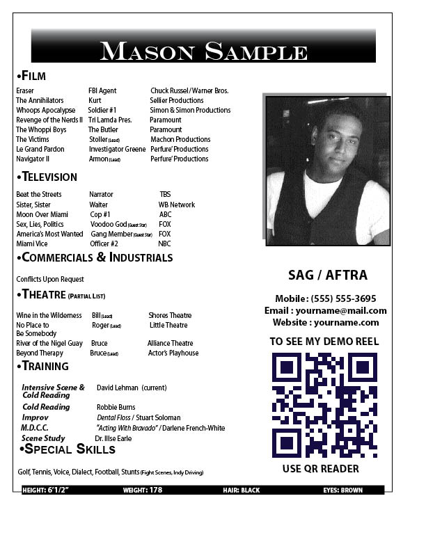 at http harlequinnproductions wordpress com resume b side samples