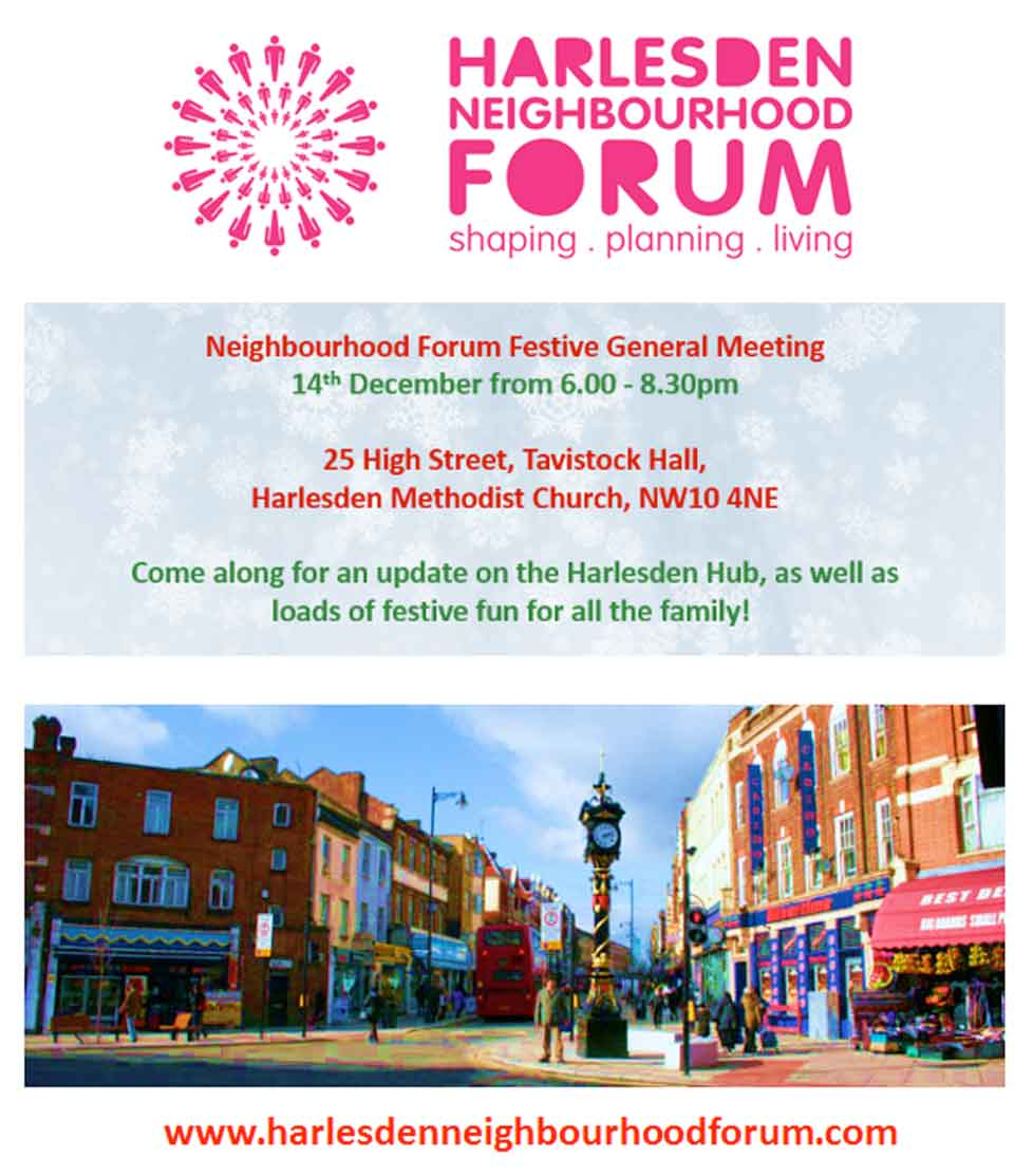 Harlesden Neighbourhood Forum dec 2017 flyer