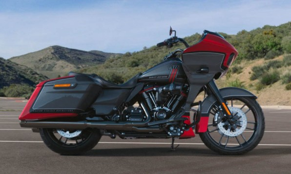 Motocykel Harley-Davidson CVO Road Glide farba Red Pepper & Magnetic Grey With Black Hole