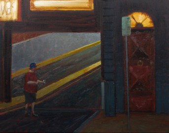 But then I said in the future Oil on Canvas 28 x 35.5cm