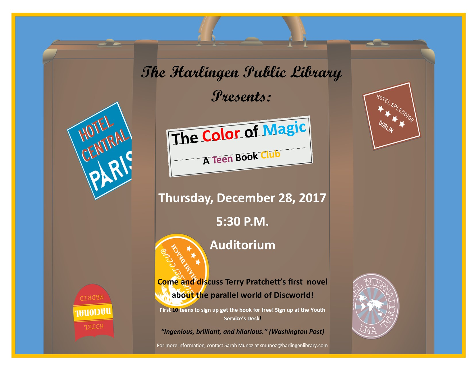 The Color of Magic book club – Harlingen Public Library