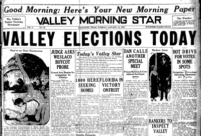 Valley Morning Star, Page1, 1930-01-14-1