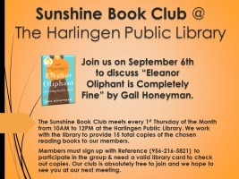 Sunshine Book Club @ Harlingen Public Library - Reference Study Room #9