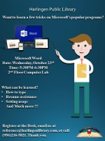 Microsoft Word Class @ Harlingen Public Library - Nonfiction Computer Lab