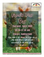 Family Play Day @ Library Auditorium