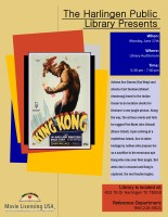 Classic Movie Cinema - King Kong @ Harlingen Public Library - Auditorium