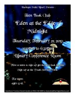 "Teen Book Club ""Eden at the Edge of Midnight"" @ Harlingen Public Library - Conference"